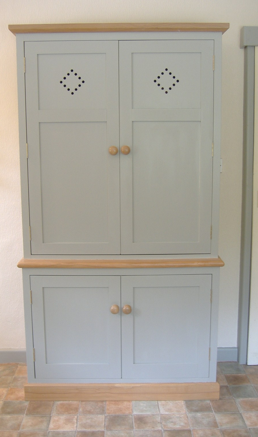 Larder Cupboard. This also houses a Microwave and has vented door decoration & Custom Kitchens and Kitchen Furniture from Anthony Frost Cabinet ...